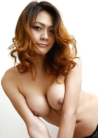26yo Thai shemale Teena teases foreigner with her big tits and hard cock