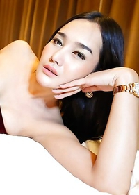 5 year old big boobed Thai ladyboy Lily gets covered in load of cum