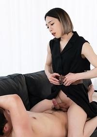 Japanese transsexual Mari Ayanami Sumata Forced Ejaculation