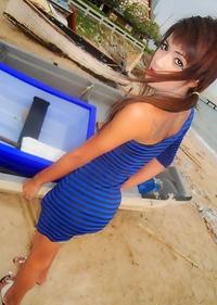 Slim Ladyboy girlfriend Un shares her private beach photos