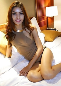 Cute Asian T-Girl Wine