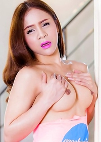 Cute Asian T-Girl Plam