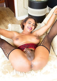 Thai Ladyboy Jasmine - Juicy Ass Red Devil Big Cum Top