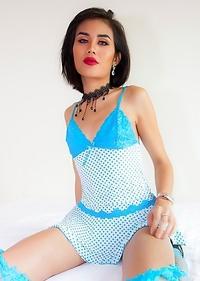 Amy Blue Polka Dot Thruway