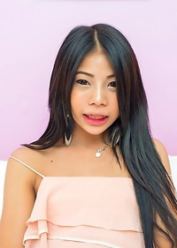 Young Ladyboy with Hard on Posing for the Camera!