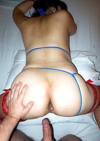 Ladyboy Anny - Big Ass Blue Lingerie Bareback