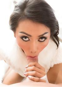 Ladyboy Many - Posh Bareback Cuming in Mouth