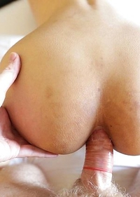 Horny Thai Ladyboy Bee with lovely face enjoys ass packing