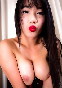 Cute Bee is back and she is sexier than ever! This gorgeous girl has a hot body, big soft breasts and a huge hard cock!