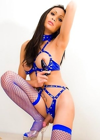 Ladyboy Alis loves submitting to deep buttplug training