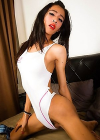 Beautiful slim transgirl Toon is a gorgeous girl with a stunning body, big tits, a sexy slim ass and a hard cock!