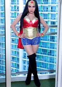 Wonder Woman TS Filipina Shemale Gone Wild